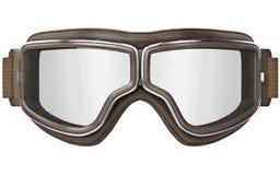 Vliegeniersbeschermende brillen in uitstekende stijl, vooraanzicht royalty-vrije illustratie