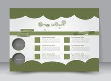 Vlieger, brochure, van het het malplaatjeontwerp van de tijdschriftdekking het landschapsrichtlijn Royalty-vrije Stock Foto