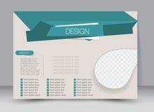 Vlieger, brochure, van het het malplaatjeontwerp van de tijdschriftdekking het landschapsrichtlijn Stock Afbeeldingen