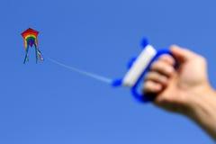 Vlieger in de hemel Stock Afbeeldingen