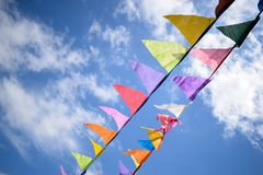 Vlieger in de hemel royalty-vrije stock foto