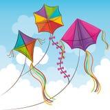 Vlieger die in de hemel vliegen vector illustratie