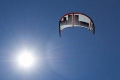 Vlieger en de zon Stock Afbeelding