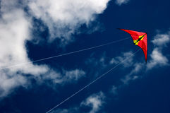 Vlieger in hemel Stock Fotografie