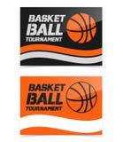 Vlieger of het ontwerp van de Webbanner met het pictogram van de basketbalbal stock illustratie