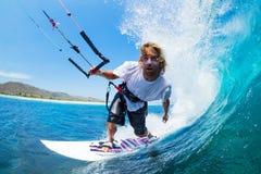 Vlieger het Surfen stock afbeeldingen