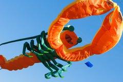 Vlieger met blauwe hemel Royalty-vrije Stock Afbeeldingen