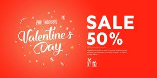 Vlieger met dag van de tekst de gelukkige valentijnskaart ` s stock illustratie