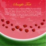 Vlieger met hart-Gevormde Watermeloenzaden Stock Afbeelding