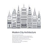 Vlieger Moderne Grote Stad royalty-vrije illustratie