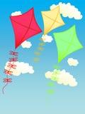 Vlieger op de hemel stock illustratie