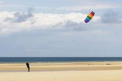 Vlieger op het strand Royalty-vrije Stock Foto's