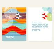 Vlieger, pamflet, boekjeslay-out Het malplaatje van het Editableontwerp A4 Stock Foto's