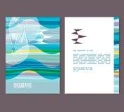 Vlieger, pamflet, boekjeslay-out Het malplaatje van het Editableontwerp A4 Stock Fotografie