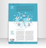 Vlieger, pamflet, boekjeslay-out Het ontwerpmalplaatje van Editable Stock Afbeelding