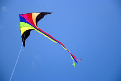 Vlieger tijdens de vlucht Royalty-vrije Stock Foto's