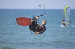 Vlieger -vlieger-surfer Royalty-vrije Stock Foto's