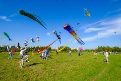 Vliegerfestival in Moskou Stock Foto's