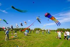 Vliegerfestival in Moskou Stock Afbeeldingen
