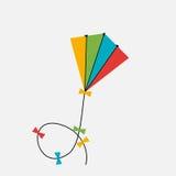 vliegerpictogram Vector illustratie Stock Foto's