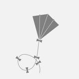 vliegerpictogram Vector illustratie Stock Foto