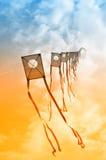 Vliegers in de hemel Royalty-vrije Stock Afbeelding