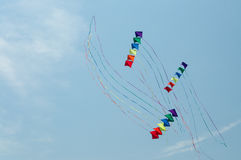 Vliegers in de hemel Stock Fotografie