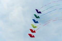 Vliegers in de hemel Royalty-vrije Stock Afbeeldingen