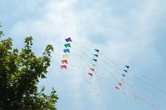 Vliegers in de hemel Stock Afbeelding