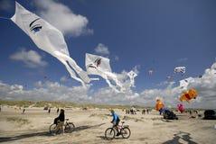 Vliegers en fietsen Stock Foto's