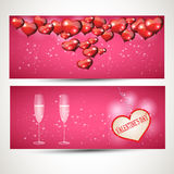 Vliegers met glazen en een hart vectorreeks 3 Stock Foto