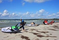 Vliegers op strand Stock Fotografie