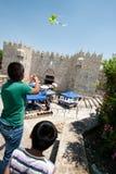 Vliegers over Jeruzalem royalty-vrije stock afbeeldingen