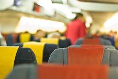 In vliegtuig Stock Afbeelding