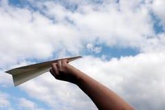 Vliegtuig 2 van het document Stock Foto