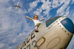Vliegtuig. Royalty-vrije Stock Foto's