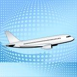 Vliegtuig aan de hemelen Royalty-vrije Stock Afbeelding