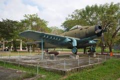 Vliegtuig, advertentie-6 Douglas A-1 Skyraider in de tentoonstelling van gevangen Amerikaanse militaire uitrusting, Tint Stock Afbeeldingen