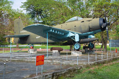 Vliegtuig, advertentie-6 (Douglas A-1 Skyraider) in het stadsmuseum Stock Afbeeldingen