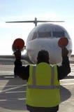 Vliegtuig bij luchthaven 10 Royalty-vrije Stock Fotografie