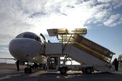 Vliegtuig bij luchthaven 11 Royalty-vrije Stock Foto's