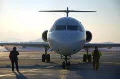 Vliegtuig bij luchthaven 15 Royalty-vrije Stock Fotografie