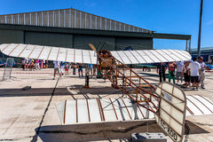 Vliegtuig Blériot XI Stock Foto