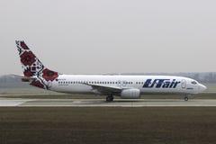 Vliegtuig Boeing 737-800 stock foto's