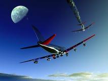 Vliegtuig dat 10 vliegt Stock Foto