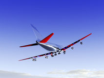Vliegtuig dat 28 vliegt Stock Foto