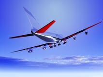 Vliegtuig dat 53 vliegt Royalty-vrije Stock Foto