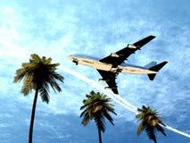 Vliegtuig dat 7 vliegt stock illustratie
