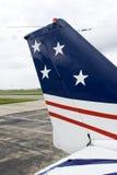Vliegtuig dat Amerika vertegenwoordigt Stock Foto's