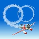 Vliegtuig dat huwelijksbericht verzendt vector illustratie